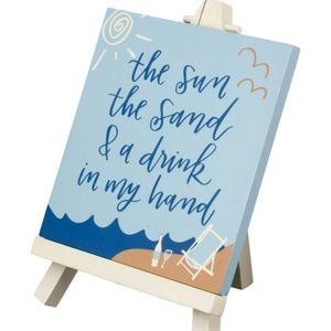 Easel - The Sun The Sand & A Drink In My Hand